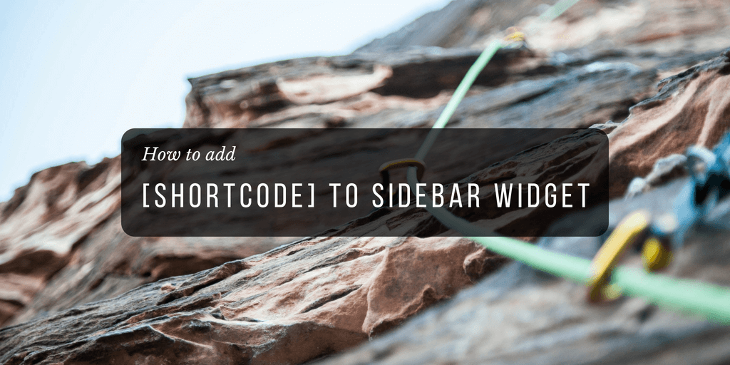 How to use shortcode in WordPress widgets