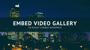 How to adding video gallery to sidebar